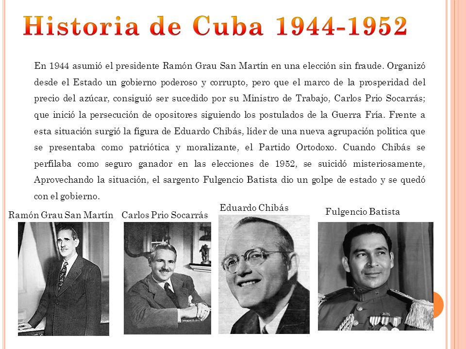 Historia de Cuba 1944-1952