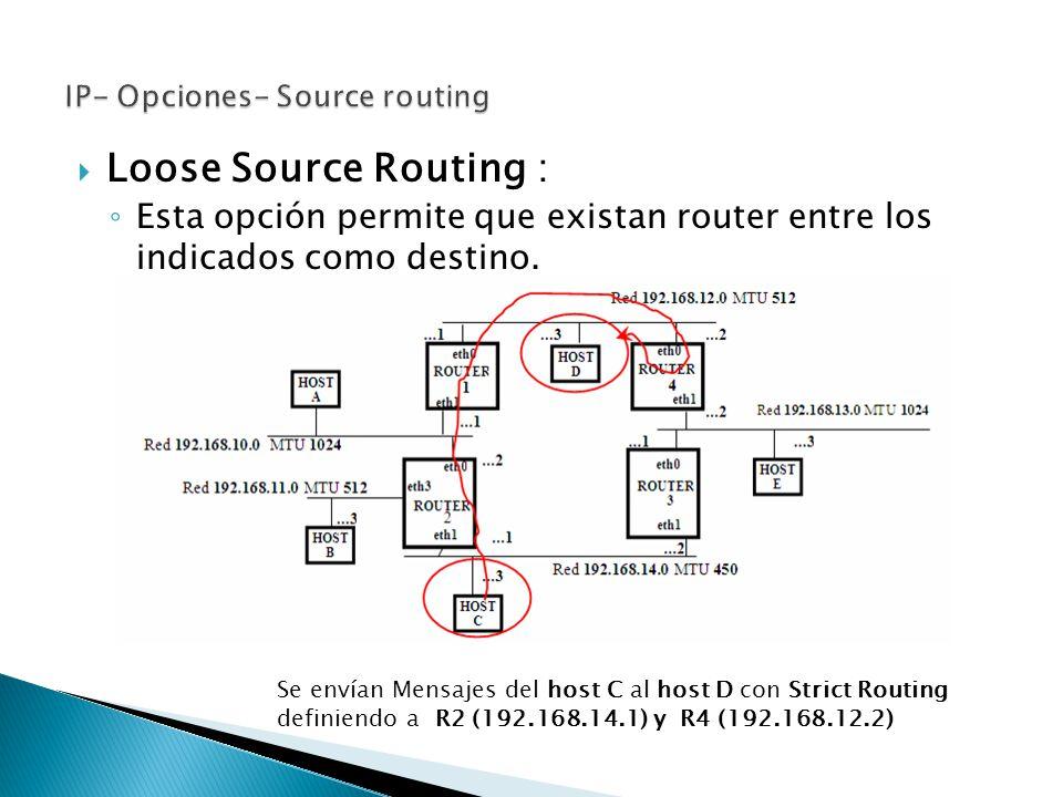 IP- Opciones- Source routing