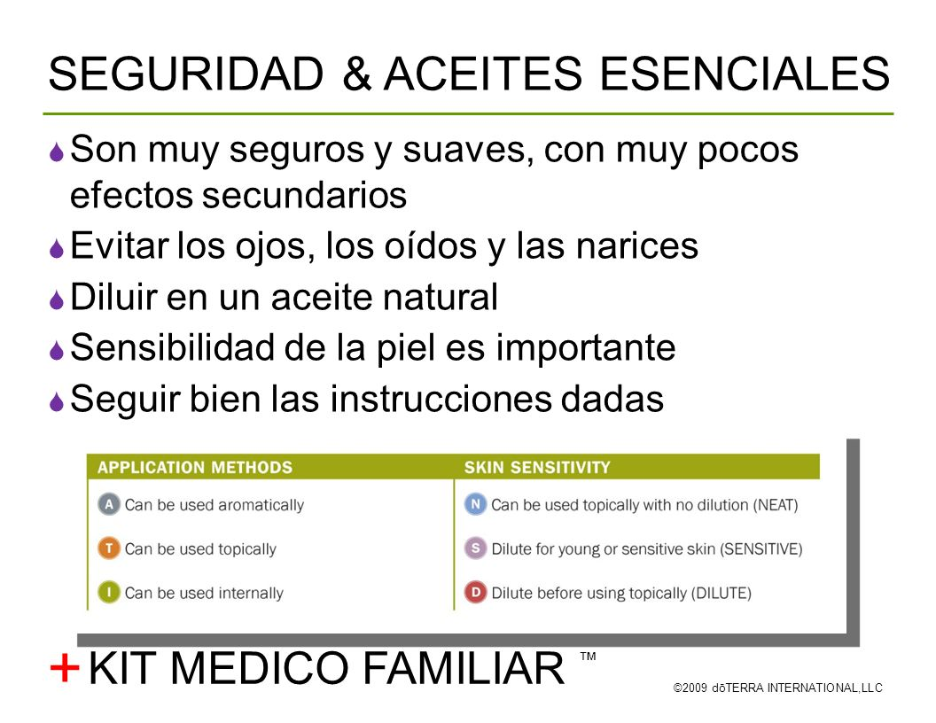 + SEGURIDAD & ACEITES ESENCIALES KIT MEDICO FAMILIAR ™