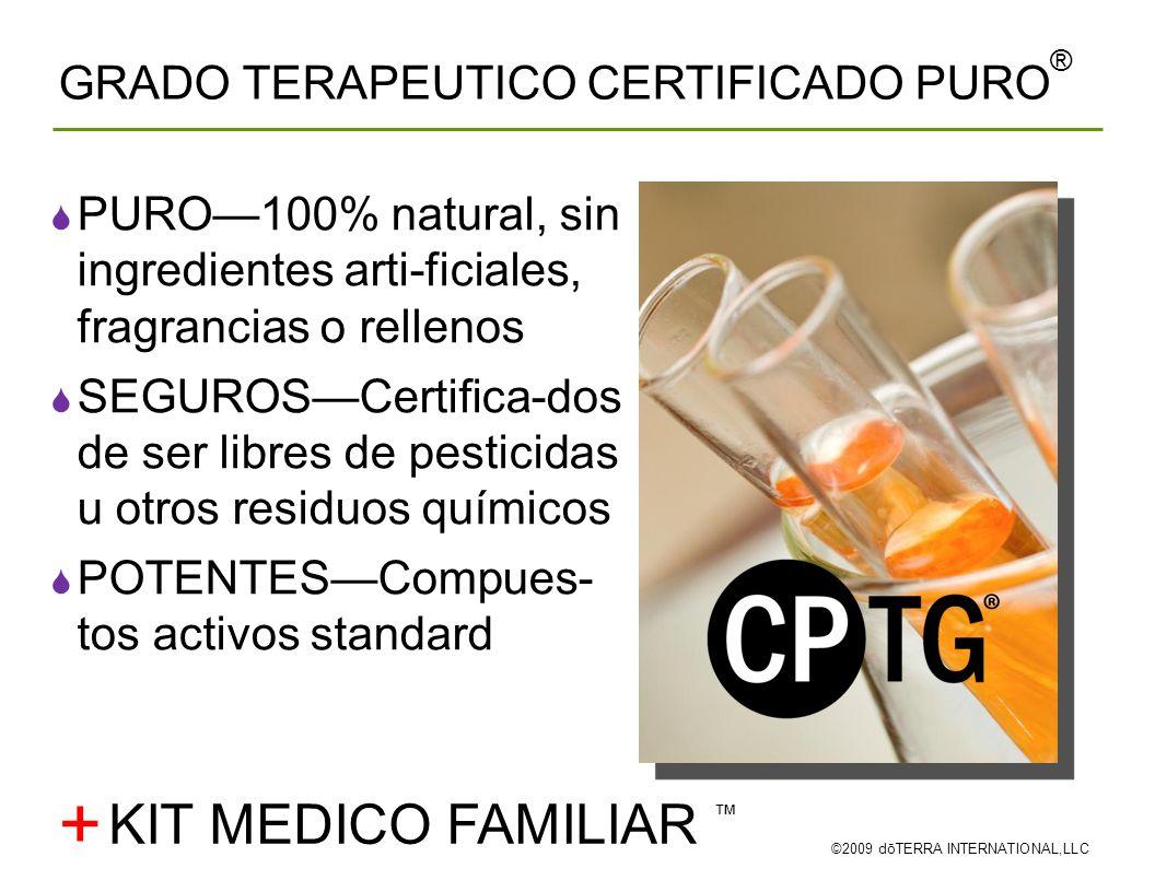 + KIT MEDICO FAMILIAR ™ GRADO TERAPEUTICO CERTIFICADO PURO®
