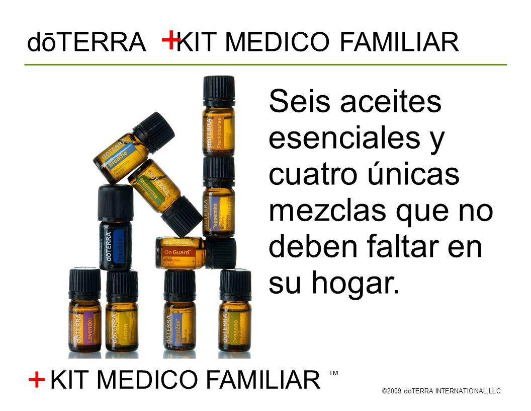 + dōTERRA KIT MEDICO FAMILIAR. Seis aceites esenciales y cuatro únicas mezclas que no deben faltar en su hogar.