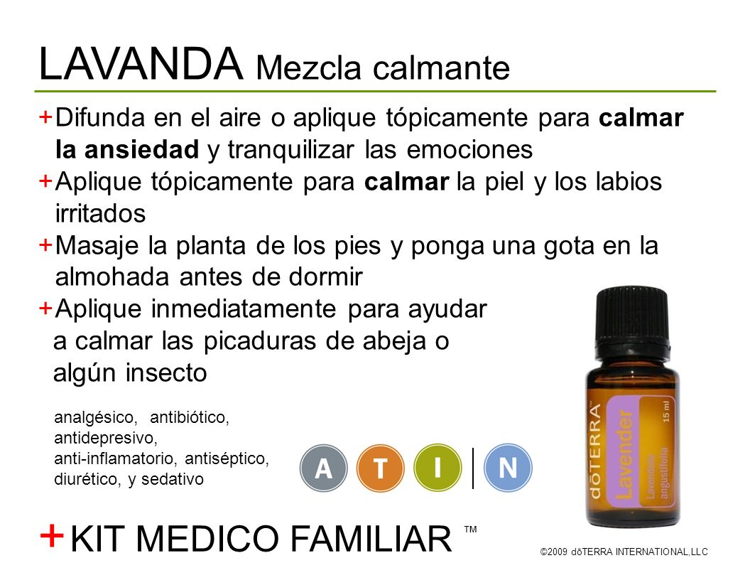 + LAVANDA Mezcla calmante KIT MEDICO FAMILIAR ™