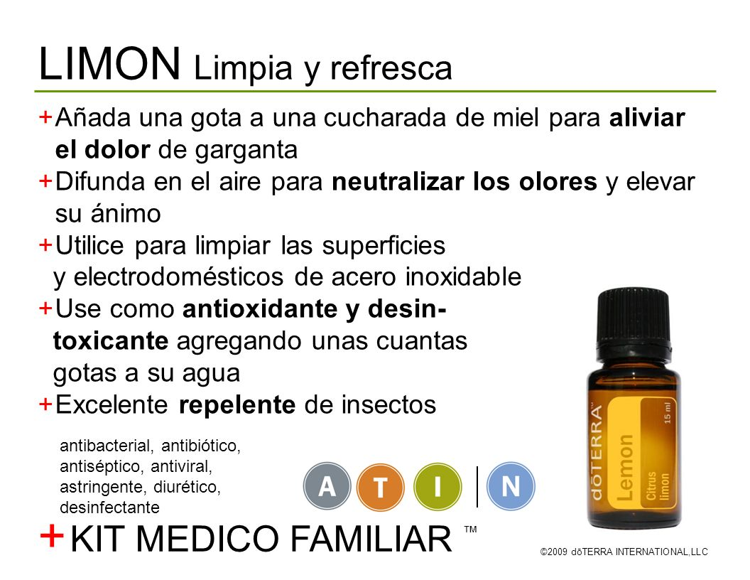 + LIMON Limpia y refresca KIT MEDICO FAMILIAR ™
