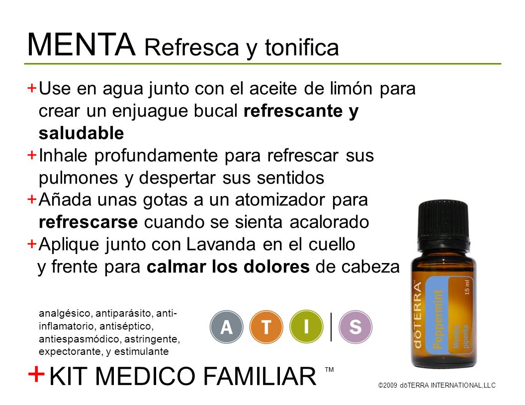 + MENTA Refresca y tonifica KIT MEDICO FAMILIAR ™
