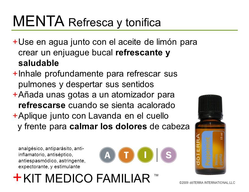 + MENTA Refresca y tonifica KIT MEDICO FAMILIAR ™