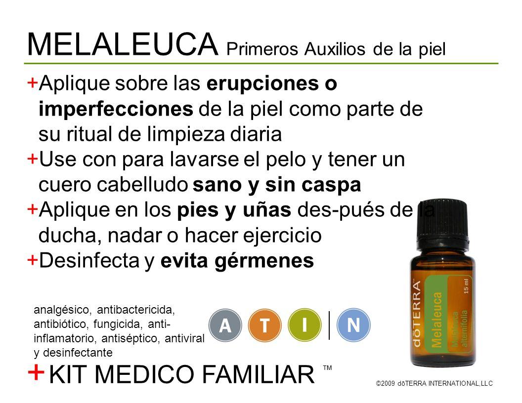 + MELALEUCA Primeros Auxilios de la piel KIT MEDICO FAMILIAR ™