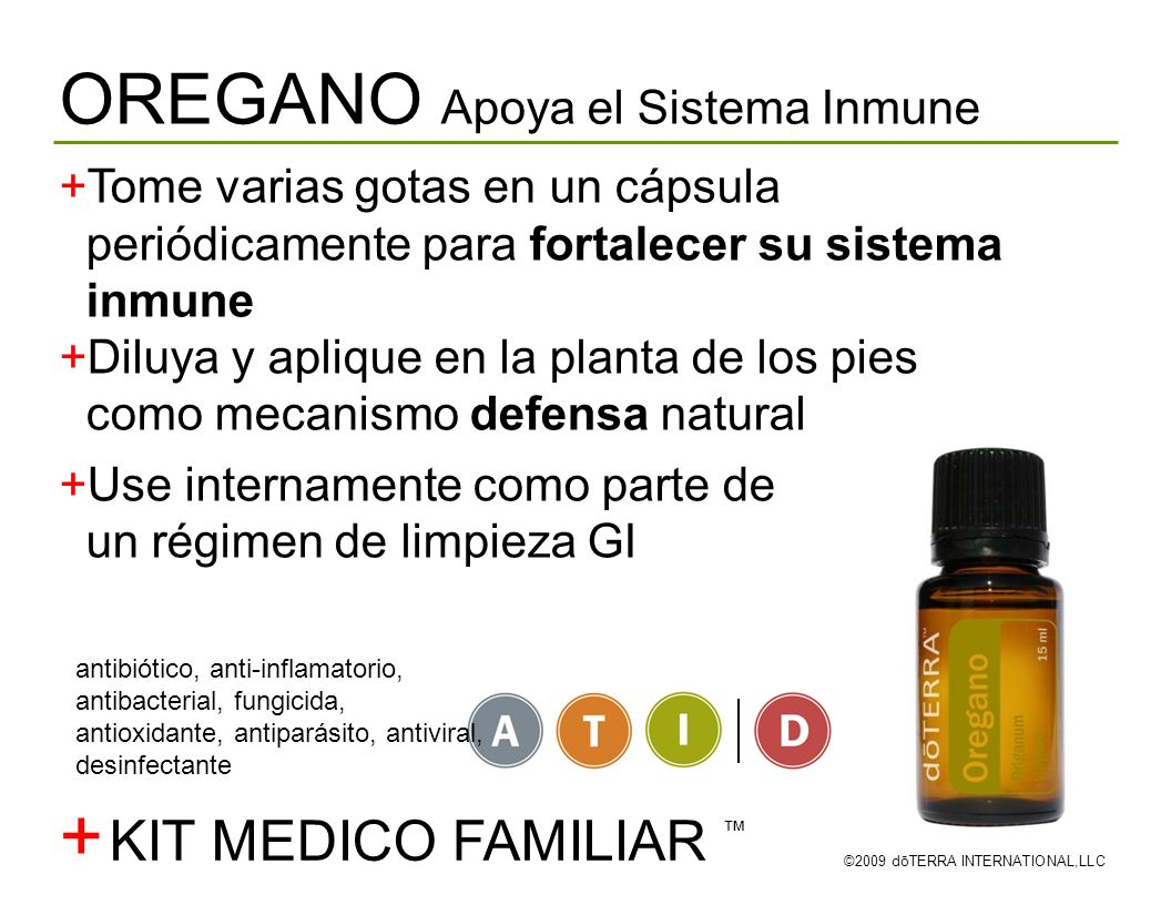+ OREGANO Apoya el Sistema Inmune KIT MEDICO FAMILIAR ™
