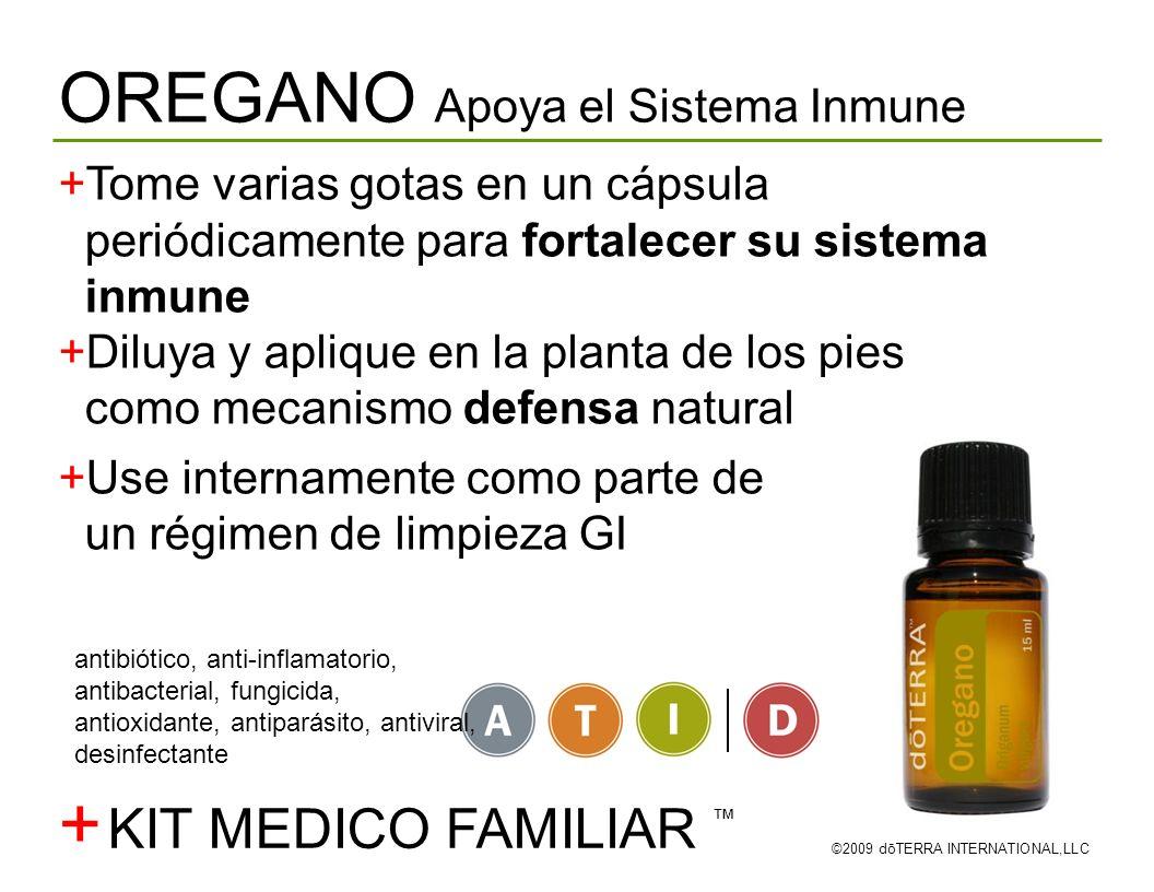+ OREGANO Apoya el Sistema Inmune KIT MEDICO FAMILIAR ™