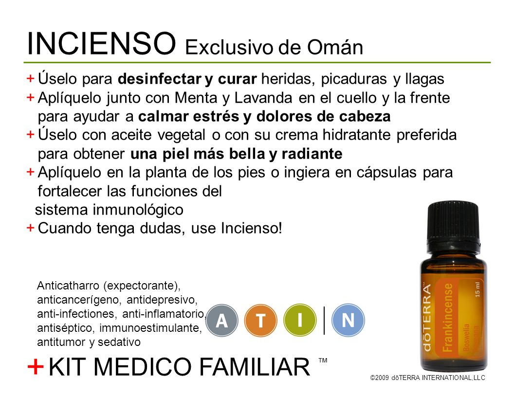 + INCIENSO Exclusivo de Omán KIT MEDICO FAMILIAR ™