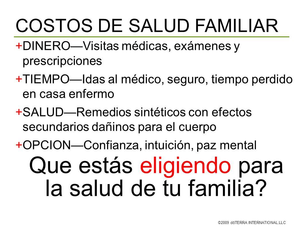 Que estás eligiendo para la salud de tu familia