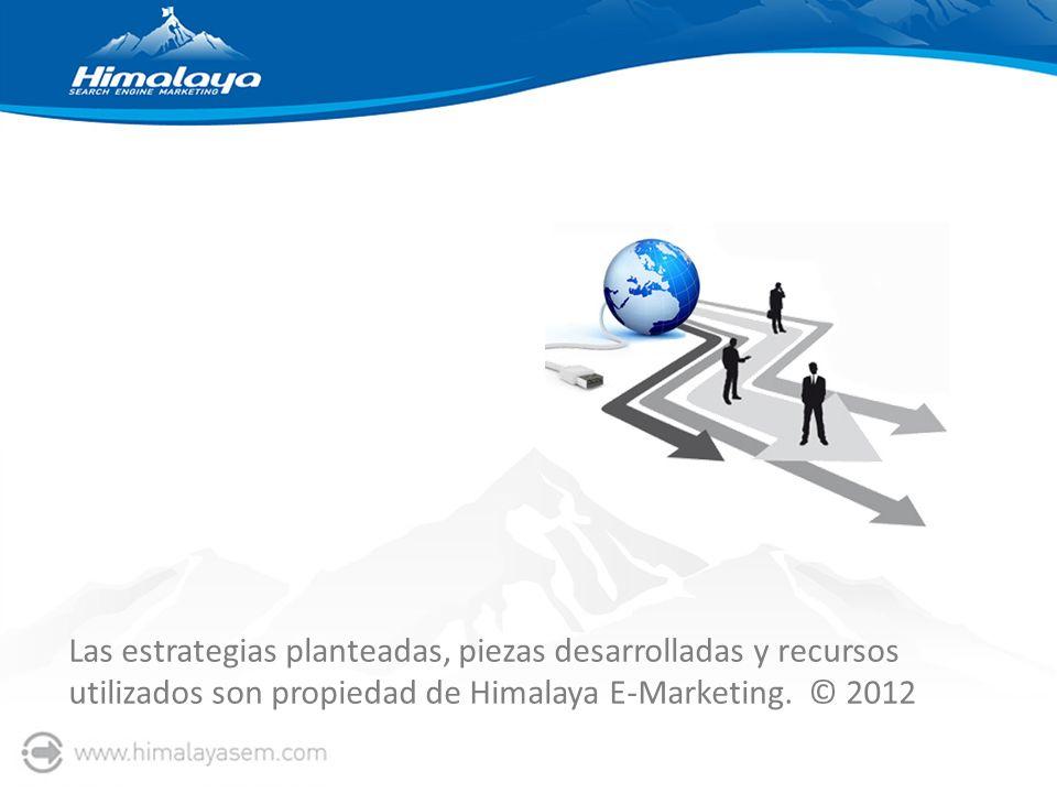 Las estrategias planteadas, piezas desarrolladas y recursos utilizados son propiedad de Himalaya E-Marketing.