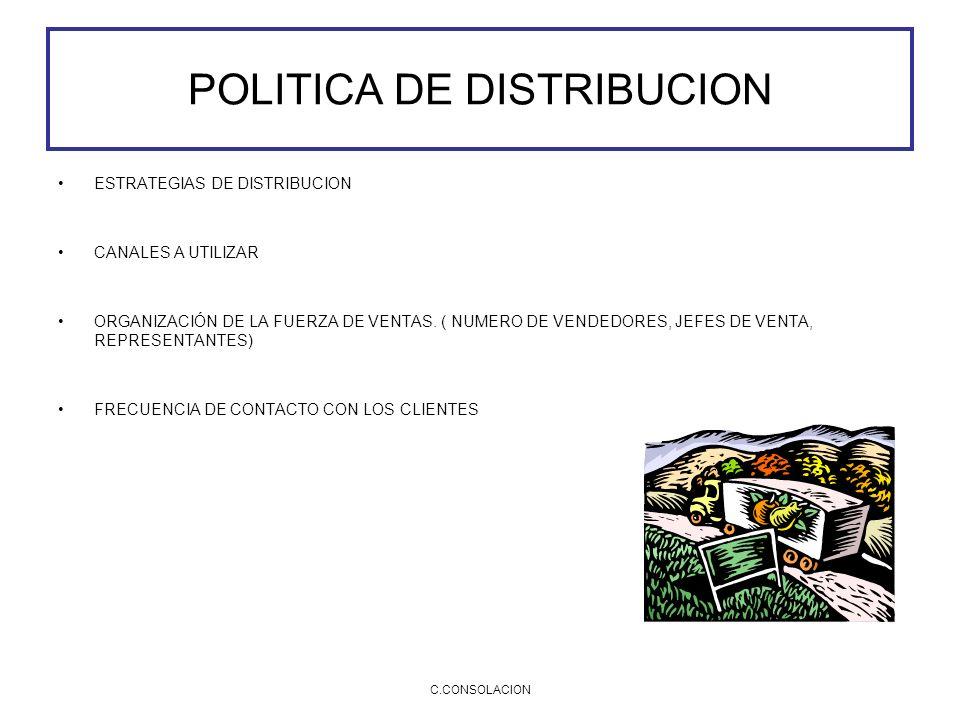POLITICA DE DISTRIBUCION