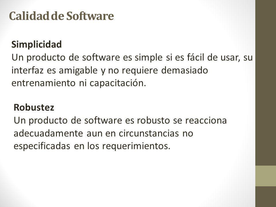 Calidad de Software Simplicidad