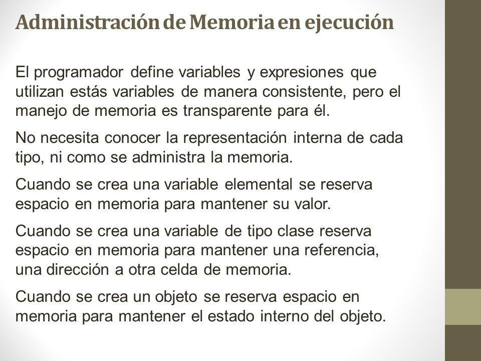 Administración de Memoria en ejecución