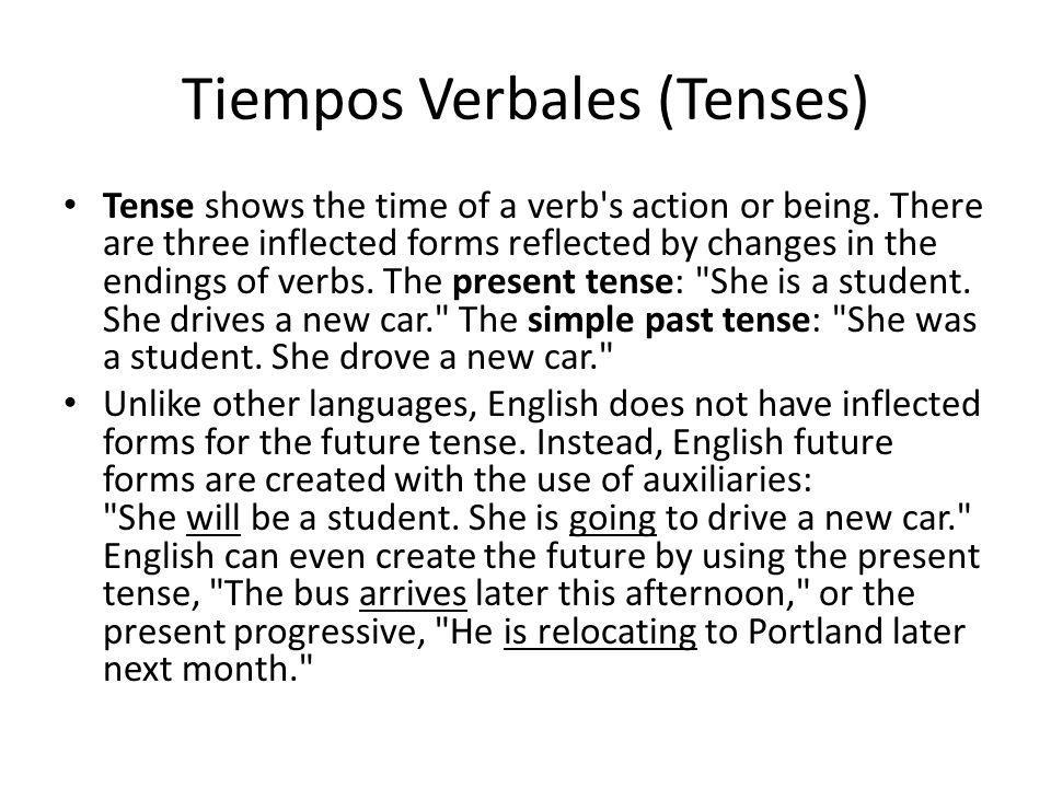 Tiempos Verbales (Tenses)