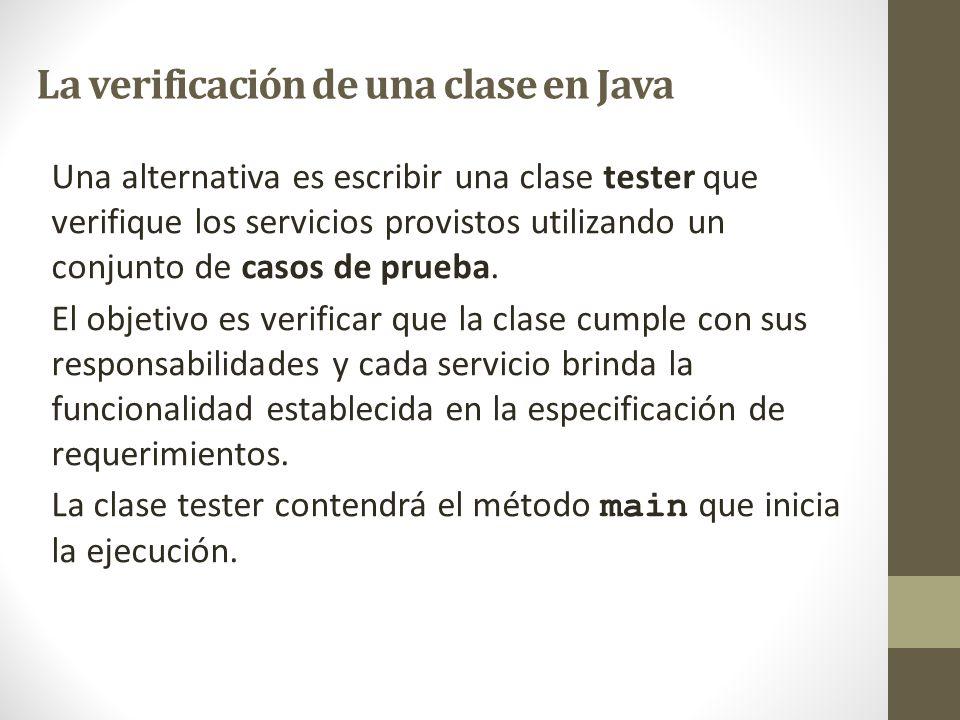 La verificación de una clase en Java