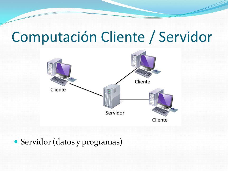 Computación Cliente / Servidor