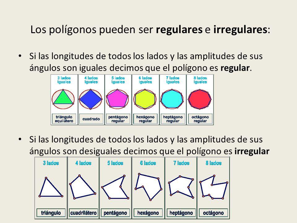 Los polígonos pueden ser regulares e irregulares: