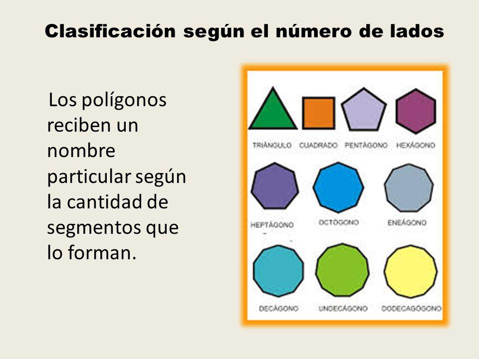 Clasificación según el número de lados
