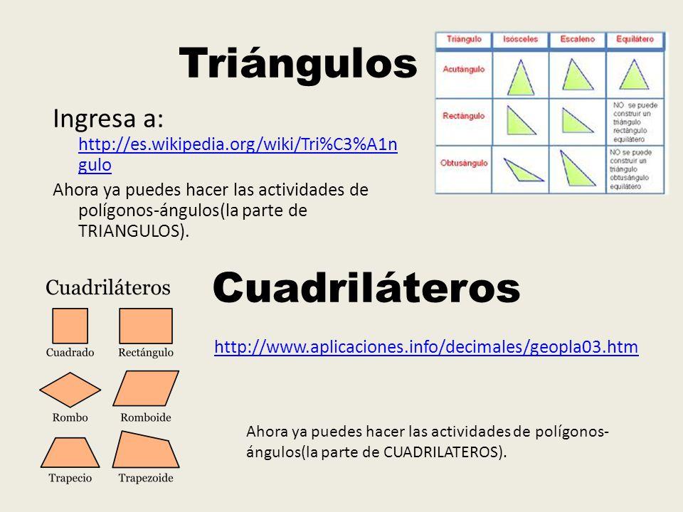 Triángulos Cuadriláteros