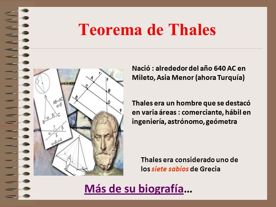 Teorema de Thales Más de su biografía…