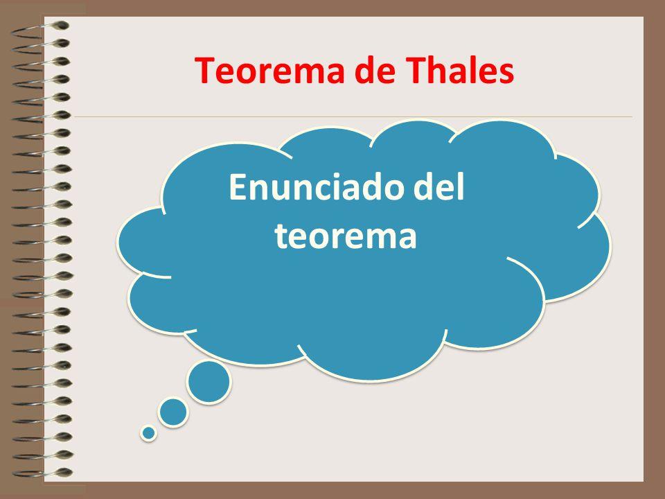 Teorema de Thales Enunciado del teorema