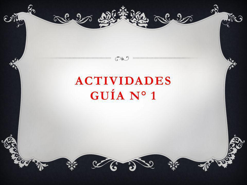 ACTIVIDADES GUÍA N° 1