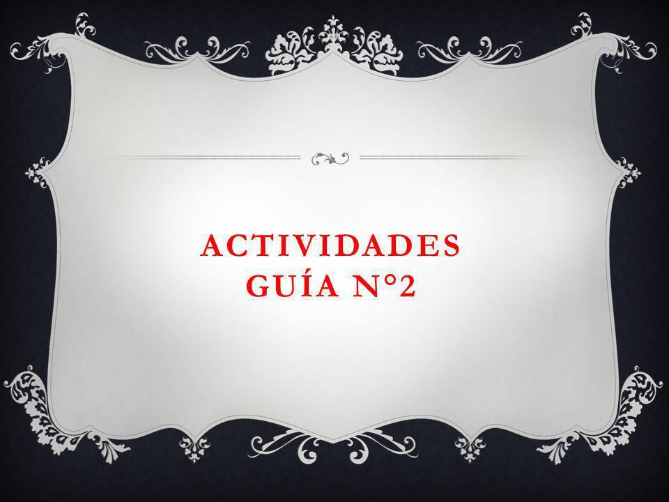 ACTIVIDADES GUÍA N°2