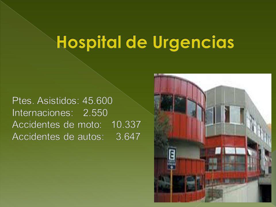 Hospital de Urgencias Ptes. Asistidos: 45.600 Internaciones: 2.550