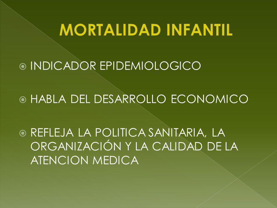 MORTALIDAD INFANTIL INDICADOR EPIDEMIOLOGICO