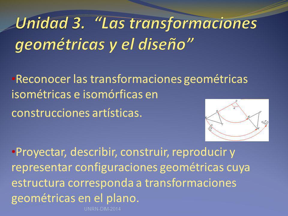 Unidad 3. Las transformaciones geométricas y el diseño