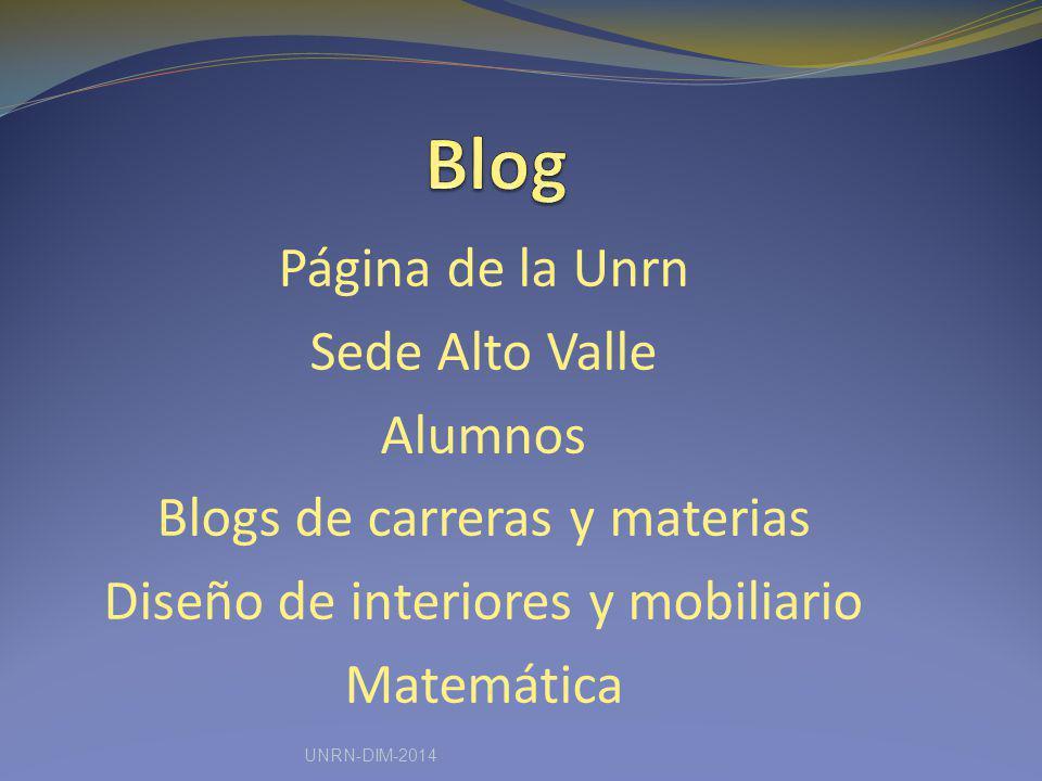 Blog Página de la Unrn Sede Alto Valle Alumnos