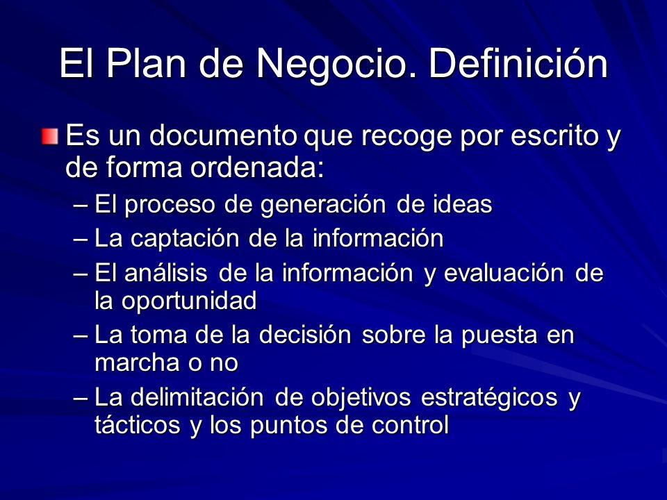 El Plan de Negocio. Definición