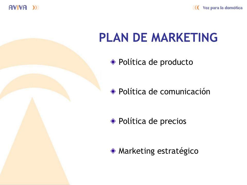 PLAN DE MARKETING Política de producto Política de comunicación