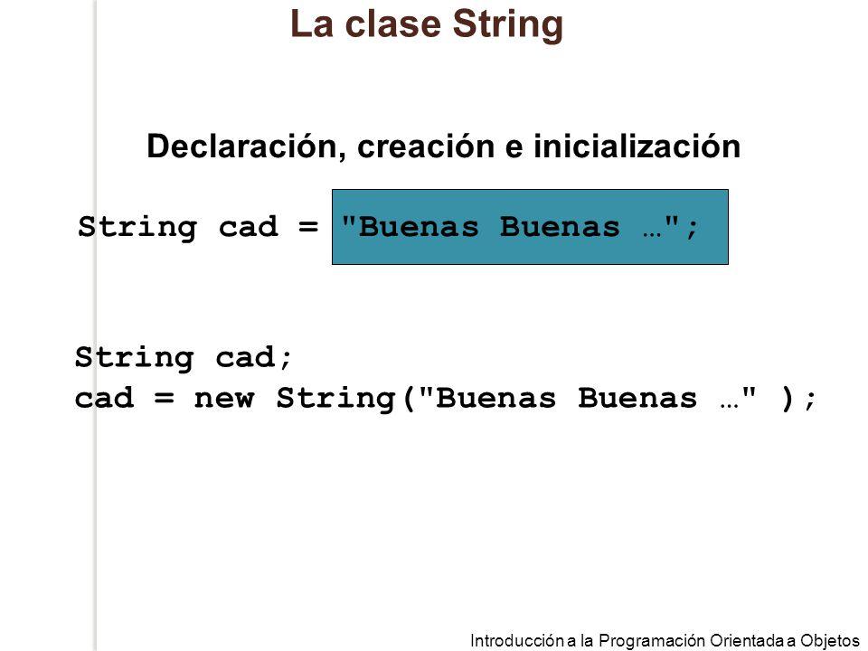 Declaración, creación e inicialización