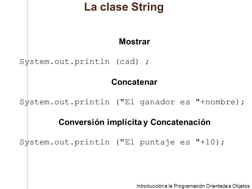 Conversión implícita y Concatenación