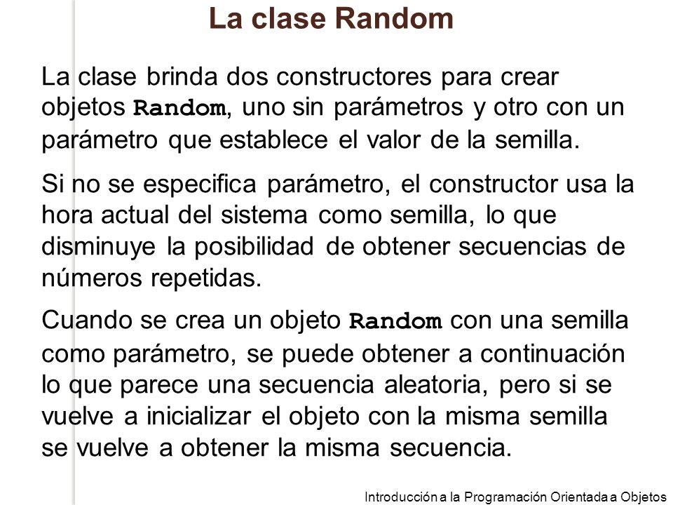 La clase Random