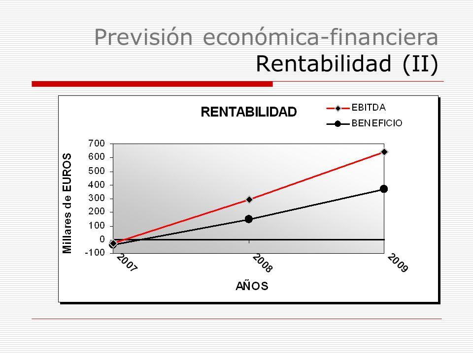 Previsión económica-financiera Rentabilidad (II)