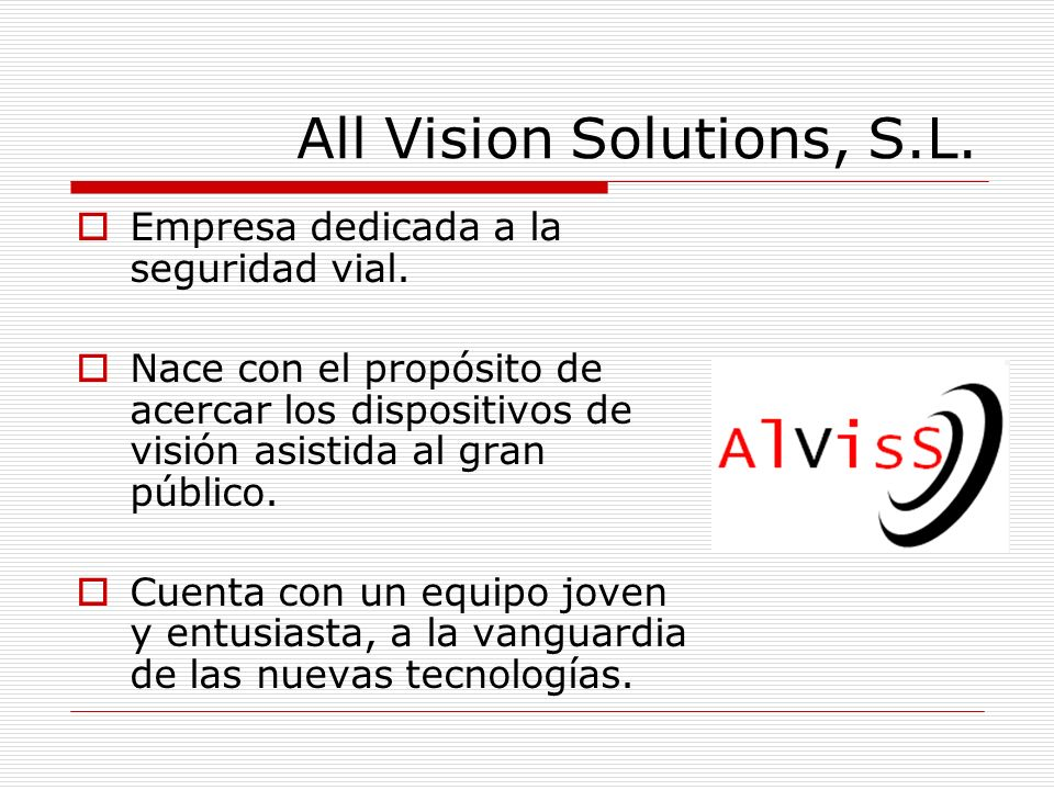 All Vision Solutions, S.L.