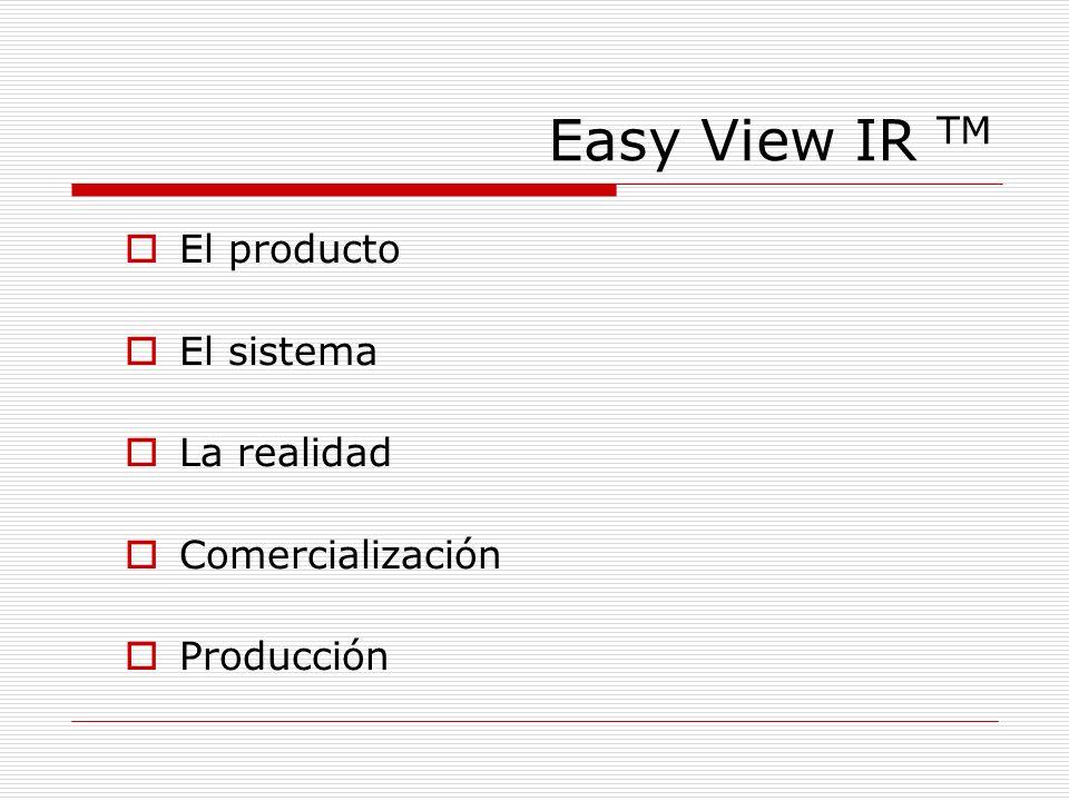 Easy View IR TM El producto El sistema La realidad Comercialización