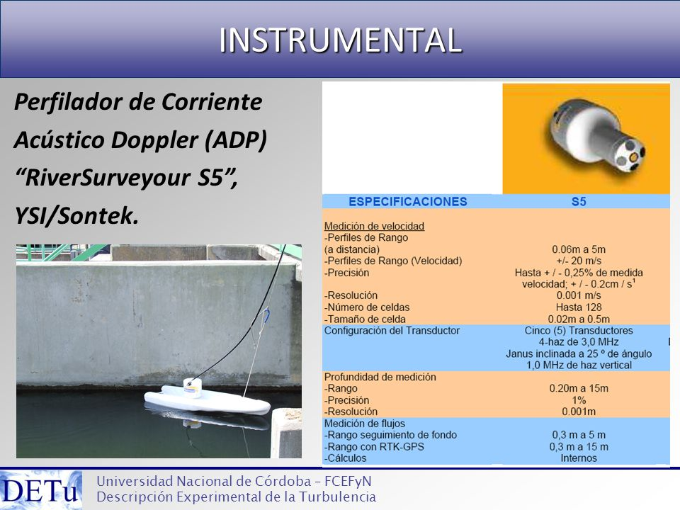 INSTRUMENTAL Perfilador de Corriente Acústico Doppler (ADP)