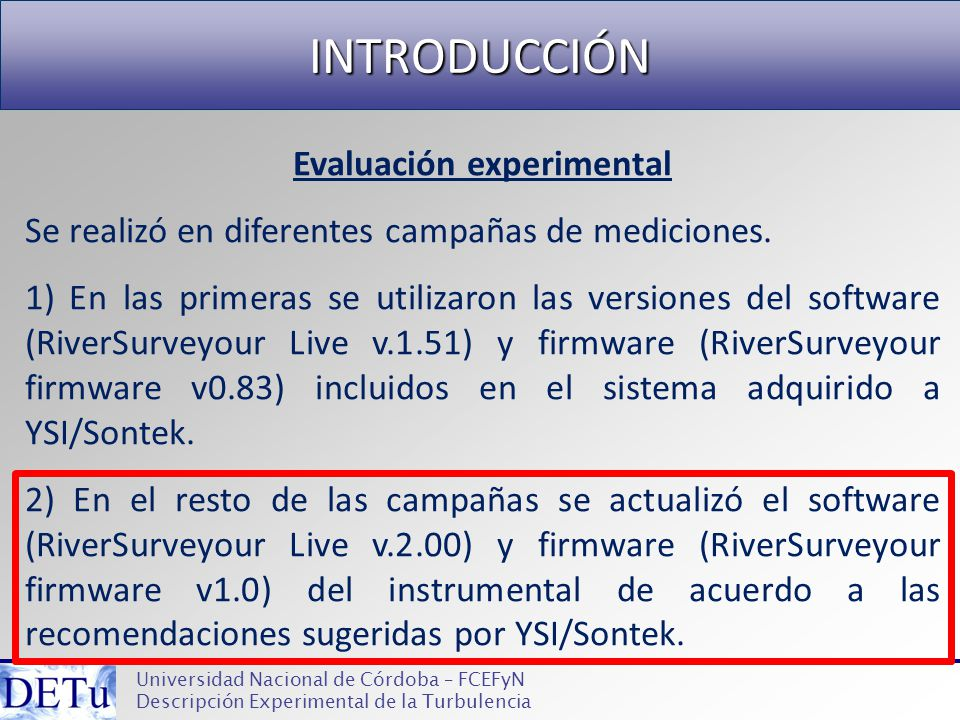Evaluación experimental