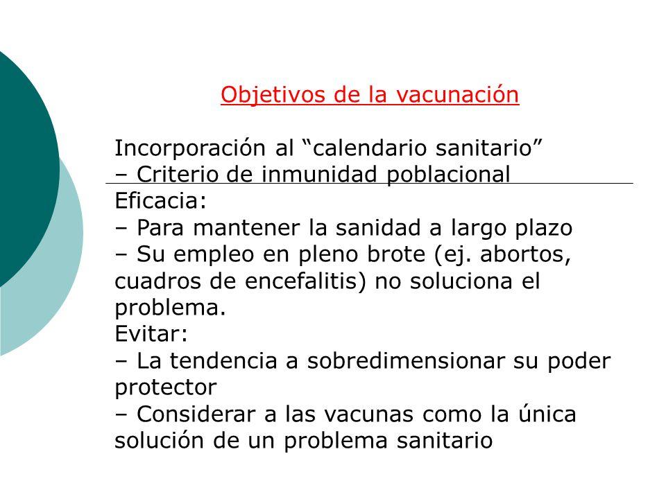 Objetivos de la vacunación