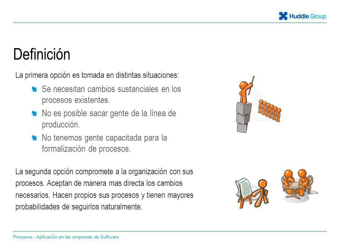 Definición La primera opción es tomada en distintas situaciones: Se necesitan cambios sustanciales en los procesos existentes.