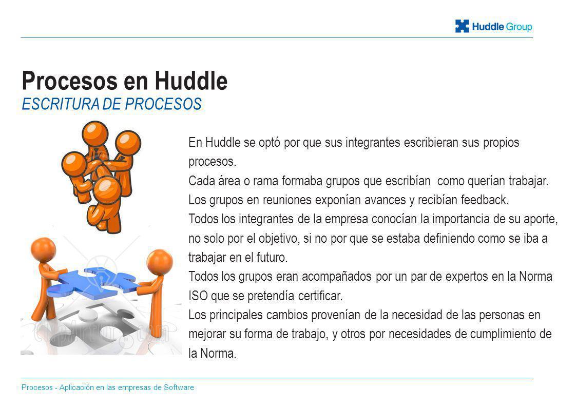 Procesos en Huddle Escritura de procesos