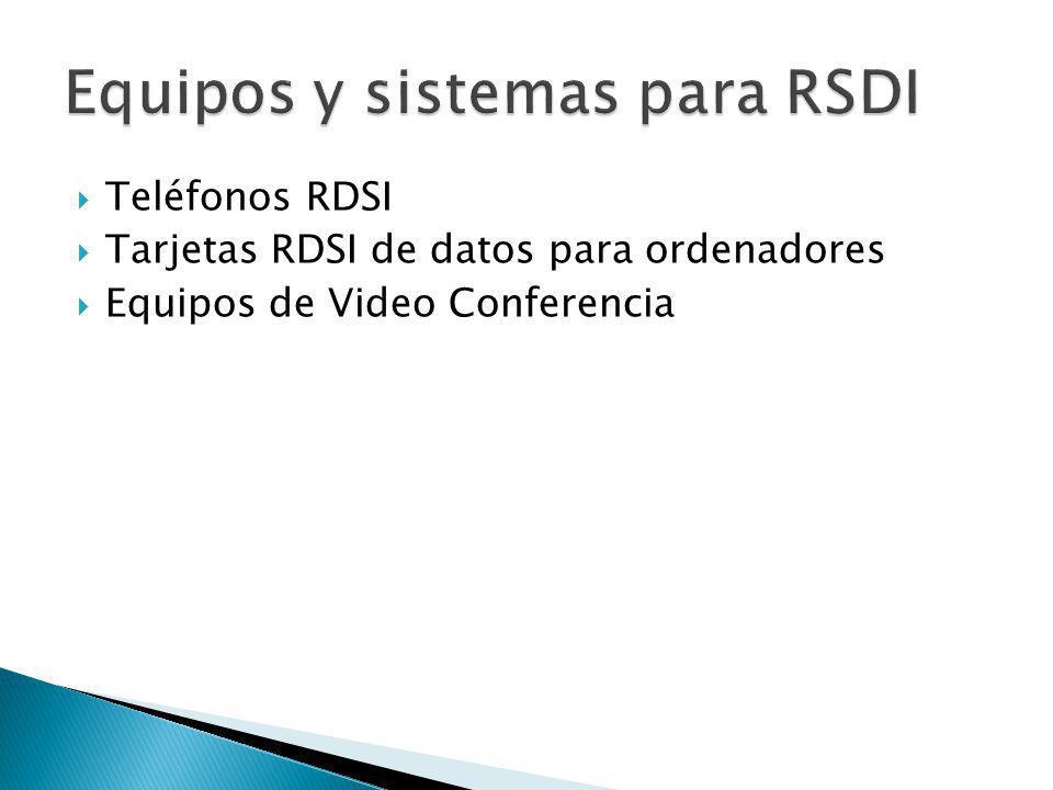 Equipos y sistemas para RSDI