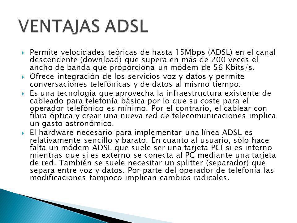 VENTAJAS ADSL