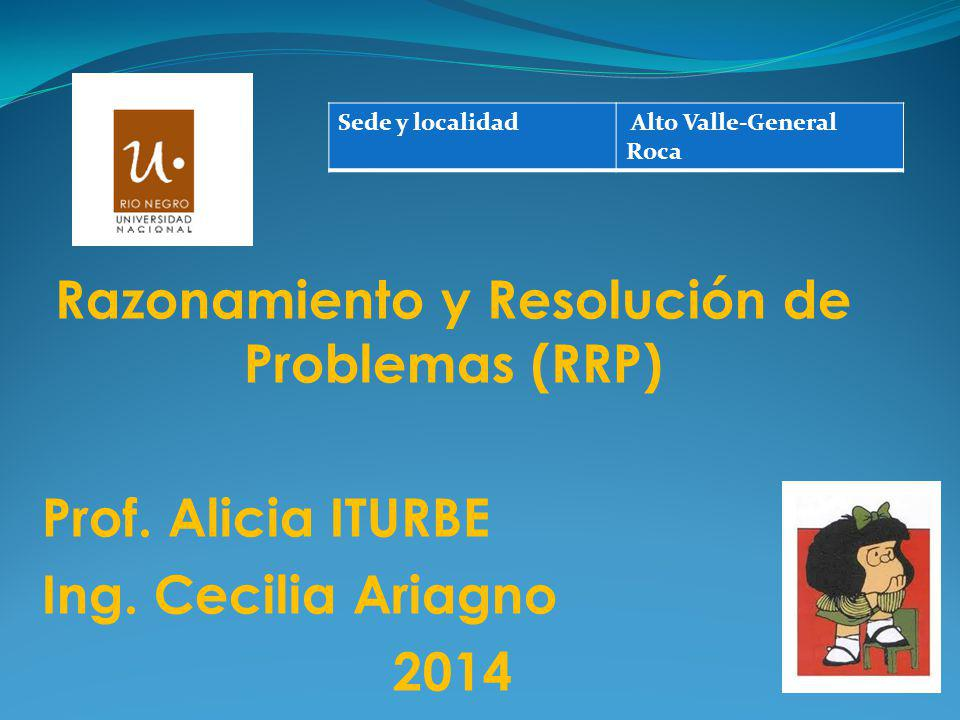 Razonamiento y Resolución de Problemas (RRP)