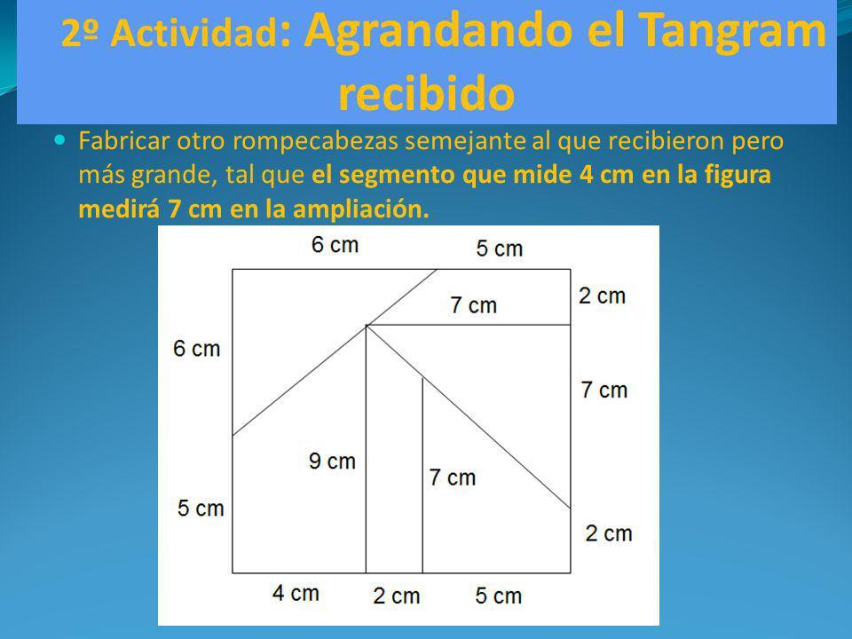 2º Actividad: Agrandando el Tangram recibido