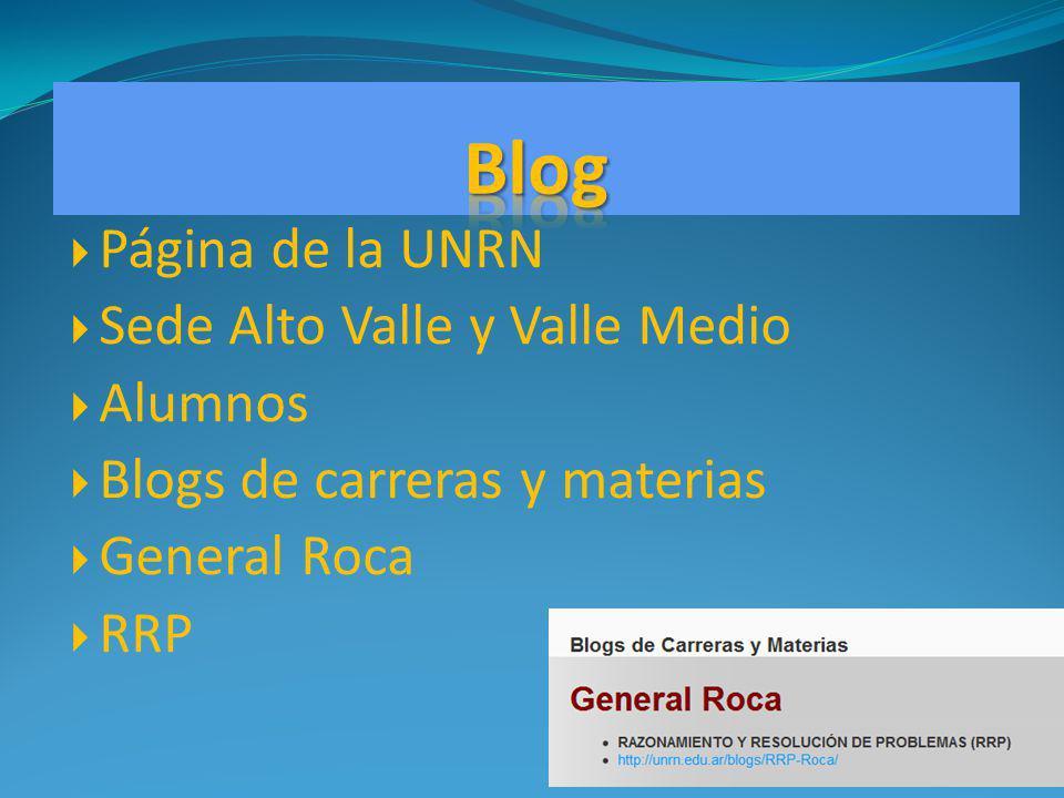Blog Página de la UNRN Sede Alto Valle y Valle Medio Alumnos